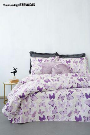 Σεντόνια Υπέρδιπλα Σετ Fashion Life FL6102 Cotton Palamaiki (170x200+30 )Με Λάστιχο 4Τεμ