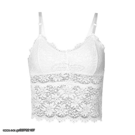 Lace Tube Top Beauty Back Wrapped Chest Strap Chest Pad Sling, Size:One Size(White)