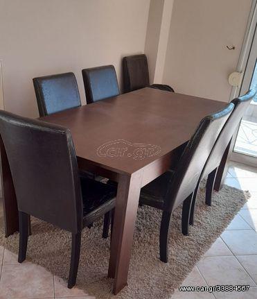 Τραπέζι με 6 καρέκλες