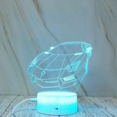Sports Car Shape Creative Crack Touch Dimming 3D Colorful Decorative Night Light