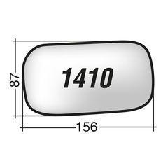 Κρύσταλλο καθρέπτη αριστερό  VOLVO C70 CABRIOLET 2005 - 2010 VOLVO S40 2004 - 2007 VOLVO V40 2004 - 2007 VOLVO V50 2004 - 2007