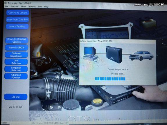 Techstream 15.00.026 Τελευταία Έκδοση Διαγνωστικό πρόγραμμα με καλώδιο για Toyota-Lexus 1 κομμάτι