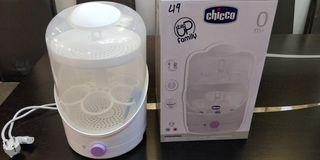 Πωλείται αποστειρωτής μπιπερών Chicco 20euro + Δώρο 4 μπιμπερό αποθήκευσης μητρικού γάλακτος