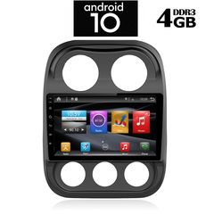 TABLET OEM JEEP COMPASS mod. 2009-2016 – ANDROID 10 Q – CPU : PX6 CORTEX 6CORE - RAM : 4GB – NAND FLASH : 32GB