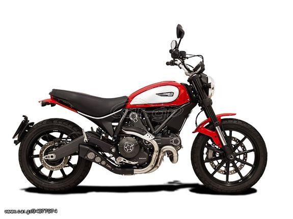 HP CORSE Εξάτμιση Τελικό HYDROFORM BLACK Ducati Scrambler 800 2015 - 2020