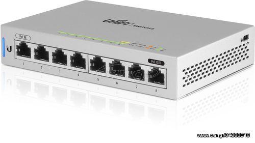 Ubiquiti Networks UniFi Switch 8 Managed network switch Gigabit Ethernet (10/100/1000) Power over Ethernet (PoE) Grey(US-8)