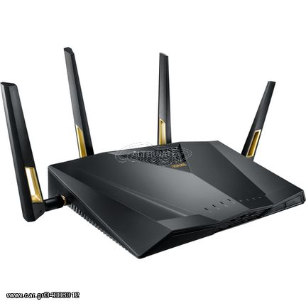 ASUS RT-AX88U wireless router Dual-band (2.4 GHz / 5 GHz) 3G 4G Black(90IG04F0-MM3G00)