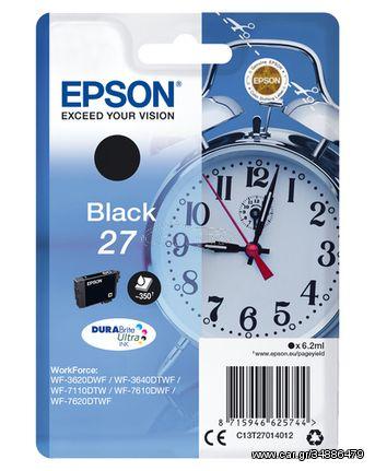 Epson Singlepack Black 27 DURABrite Ultra Ink(C13T27014012)