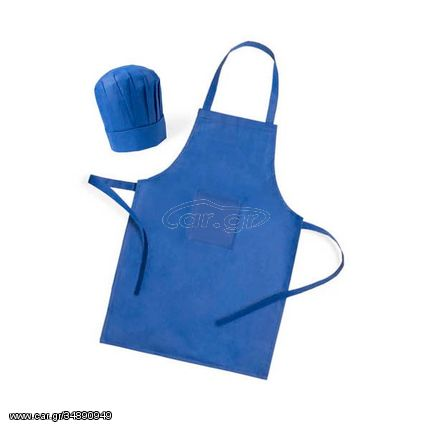 Παιδική Ποδιά και Καπέλο για τη Κουζίνα (2 pcs) 144754 - Μπλε