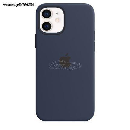Θήκη Σιλικόνης για Apple iPhone 12 Mini - Silicone Case Μπλε Σκούρο