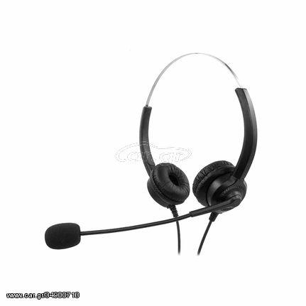 MediaRange Corded stereo headset with microphone and control panel, MROS304 ΑΚΟΥΣΤΙΚΑ