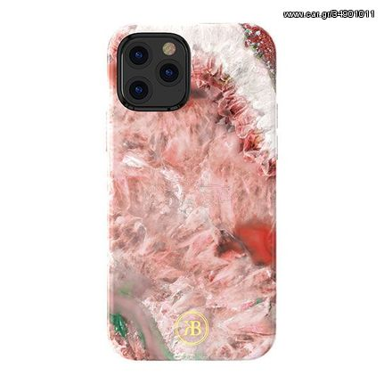 Kingxbar Agate Series case decorated printed Agate iPhone 12 mini red