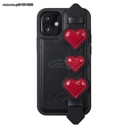 Kingxbar Sweet Series case decorated with original Swarovski crystals iPhone 12 mini black