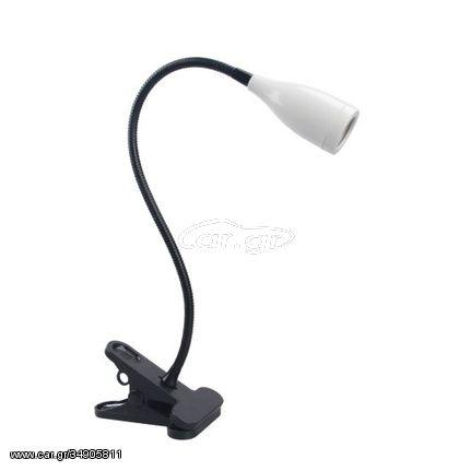 Φωτιστικό Γραφείου με Κλιπ LED 3W QM132 Λευκό 020028 Telco