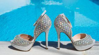 Αφόρετα ψηλοτάκουνα, εντυπωσιακά, νυφικά παπούτσια, Νο 39-40, ιδανικά για εντυπωσιακές φωτογραφίες