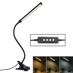 LED Desk Lamp 8W Folding Adjustable USB Charging Eye Protection Table Lamp, USB Charge Version(Black) (Fonkin)