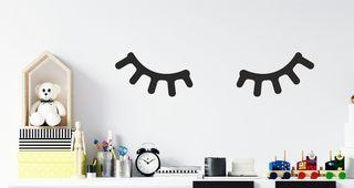 Παιδικό αυτοκόλλητο τοίχου με βλεφαρίδες Μικρό