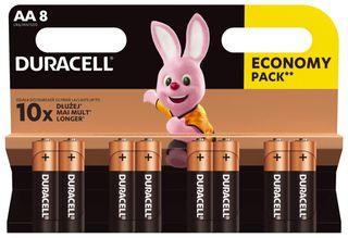 8 x Duracell Basic Duralock LR6 AA alkaline battery
