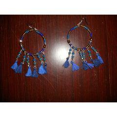 Σκουλαρίκια μπλε με χάντρες