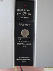 Θέρμανση ιστιοφόρου WALLAS 1600 marine cabine heater