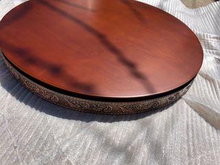 Καπάκι για τραπέζι διάμετρο 65cm πάχος 5cm με μπρούτζινο περίβλημα άθικτα 2 τεμάχια