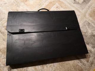 Σετ σχεδιασμού με χάρακες κ.α. σε βαλίτσα σχεδίου