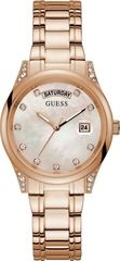Guess GUESS Aura Crystals Rose Gold Stainless Steel Bracelet GW0047L2