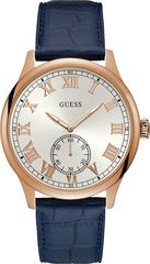 Guess GUESS CAMBRIDGE Blue Leather Strap W1075G5