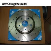 Δισκόπλακες RAID Εμπρόσθιες Χαρακτές-Τρυπητές ALFA ROMEO 156/SW 1.6i 16V Twin Spark (10/97) - (281 x 15mm)  2130400320 www.autoliatas.gr