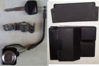 Κλειδαριά σέλας 20€,καπάκια πλαστικά από 10€ & άλλα τεμ 20€ για varadero XL 1000V 1998-2003