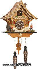 Ρολόι κούκος με χειροποίητη παράσταση αλπικού σπιτιού και μουσική. Κωδ:4204QM --- www.CuckooClock.gr ---