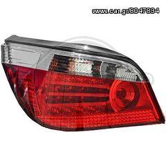 BMW SERIES 5 E60/E61 ΦΑΝΑΡΙΑ ΠΙΣΩ  LED RED-CHROME (ΚΟΚΚΙΝΑ-ΧΡΩΜΙΟ)